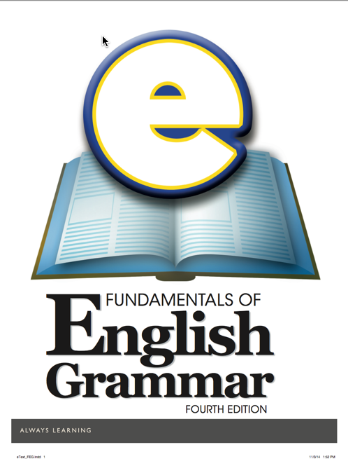 Fundamentals of English Grammar, Fourth Edition, eText and MyEnglishLab